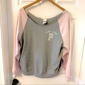 VS PINK | Flashdance 80's Style Sweatshirt Large